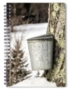 Traditional Sap Bucket On Maple Tree In Vermont Spiral Notebook