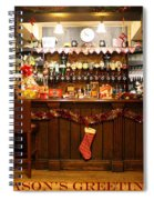 Traditional Seasons Greetings Spiral Notebook