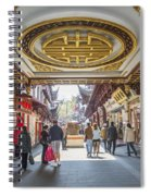 Traditional Shopping Area In Shanghai China Spiral Notebook