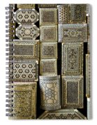 Traditional Souvenir Boxes In Market Of Cairo Egypt  Spiral Notebook