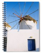 Traditional Windmill In A Village Spiral Notebook