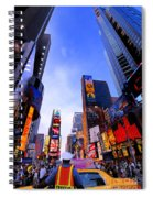 Traffic Cop In Times Square New York City Spiral Notebook
