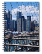 Traffic On A Bridge, Brooklyn Bridge Spiral Notebook