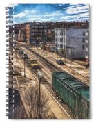 Traffic On Lincoln Street Spiral Notebook