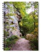 Trail Beside The Cliff Wildcat Den State Park Spiral Notebook