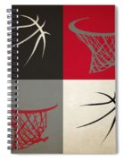 Trail Blazers Ball And Hoop Spiral Notebook