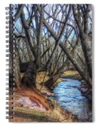 Trail By Fountain Creek Winter Spiral Notebook