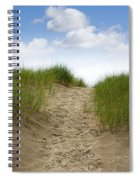 Trail Over The Dune To The Summer Beach Spiral Notebook