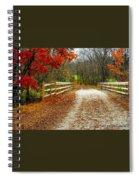 Trailing In Autumn Spiral Notebook