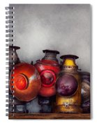 Train - A Collection Of Rail Road Lanterns  Spiral Notebook