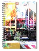 Train Abstract Blend 1 Spiral Notebook
