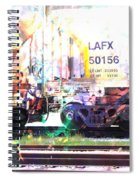 Train Abstract Blend 6 Spiral Notebook