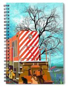 Train - All Aboard - Transportation Spiral Notebook