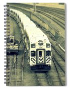 Train Approaching Spiral Notebook