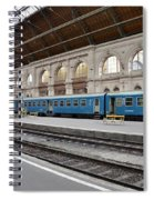 Train At Station Platform Budapest Hungary Spiral Notebook