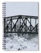 Train Bridge Over The Genesee River Spiral Notebook