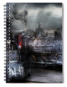 Train - Engine - 1218 - Waiting For Departure Spiral Notebook