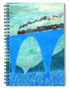 Train For A New World By Taikan Spiral Notebook