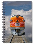 Train In Clouds Spiral Notebook