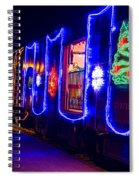 Train Of Lights Spiral Notebook