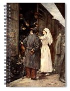 Train Of The Wounded, 1915 Spiral Notebook