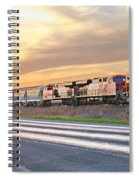 Train On The Tracks Spiral Notebook
