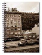 Train Passes Station Square Pittsburgh Antique Look Spiral Notebook
