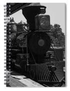 Train Ride Magic Kingdom Black And White Spiral Notebook