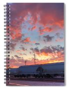 Train Setting Spiral Notebook