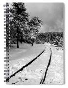 Train Tracks In The Snow Spiral Notebook