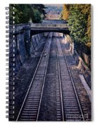 Train Tracks Into Town Spiral Notebook