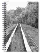 Train Tracks Running Through The Forest Spiral Notebook