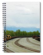Train Tracks Spiral Notebook