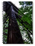 Train Trestle In The Woods Spiral Notebook