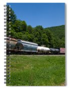 Train Watching At The Horseshoe Curve Altoona Pennsylvania Spiral Notebook
