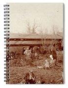 Train Wreck, 1890s Spiral Notebook