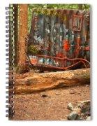 Train Wreck Along The Cheakamus River Spiral Notebook