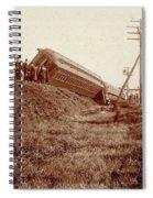 Train Wreck, C1900 Spiral Notebook