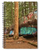 Train Wreck Canvas Among The Trees Spiral Notebook