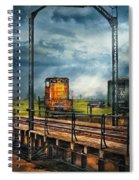 Train - Yard - On The Turntable Spiral Notebook
