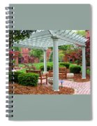 Tranquil Courtyard Spiral Notebook