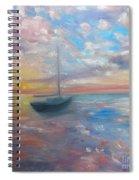 Tranquil Ocean Sunset Spiral Notebook