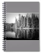 Tranquil Reflection In B And W Spiral Notebook
