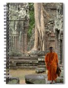 Tranquility In Angkor Wat Cambodia Spiral Notebook