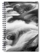 Tranquility In Black And White Spiral Notebook