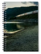 Trans Siberian Sunset Spiral Notebook