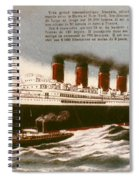 Transatlantic Liner, 1912 Spiral Notebook