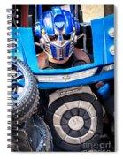 Transformer Man Mime Spiral Notebook
