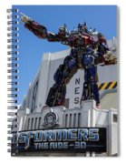 Transformers The Ride 3d Universal Studios Spiral Notebook