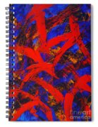 Transitions With Blue And Red  Spiral Notebook
